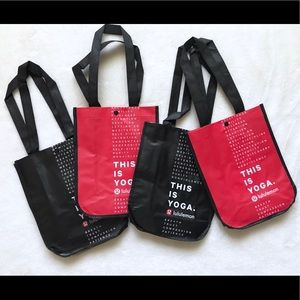 4 New Lululemon Reusable Shopping Totes
